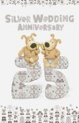 Boofle 25th Wedding Anniversary Card